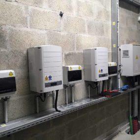 panneau photovoltaique centre commercial Laval ondulateur